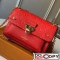 Louis Vuitton Monogram Empreinte Leather Vavin BB Shoulder Bag M44554 Red bag