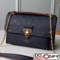 Louis Vuitton Monogram Empreinte Leather Vavin MM Shoulder Bag M43925 Navy Blue bag