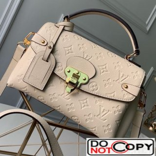 Louis Vuitton Monogram Leather Georges BB Top Handle Bag M53941 Cream White bag