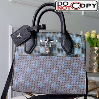 Louis Vuitton Monogram Pop City Steamer Mini Top handle Bag M55469 Blue bag