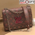 Louis Vuitton Monogram Pop Twist MM Shoulder Bag M55480 Red