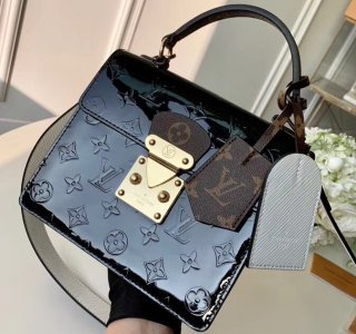 Louis Vuitton Monogram Vernis Patent Leather Spring Street Bag M90375 Black bag