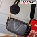 Louis Vuitton Multi Pochette Accessoires Monogram Leather Triple Shoulder Bag M44813 Black Bag