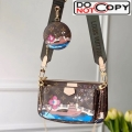 Louis Vuitton Multi-Pochette Accessoires Triple Monogram Canvas Print Shoulder Bag M44840 Blue bag