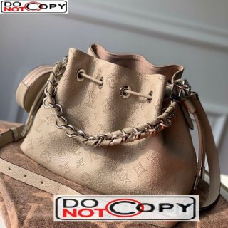 Louis Vuitton Muria Bucket Bag in Perforate Calfskin M55798 Beige bag