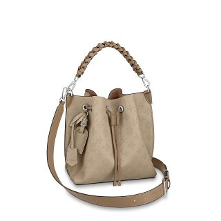 Louis Vuitton Muria Mahina Monogram Perforated Leather Bucket Bag M55799 Beige bag