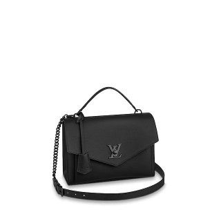Louis Vuitton Mylockme Matte Top Handle Bag M55816 Black bag
