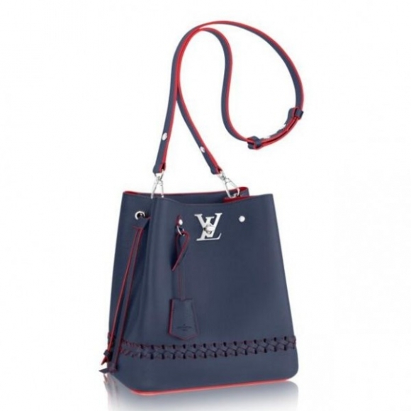 Louis Vuitton Navy Blue Lockme Bucket Bag M54681 bag
