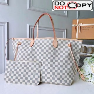 Louis Vuitton Neverfull GM Damier Azur Canvas Tote Bag N41360 Vintage White bag