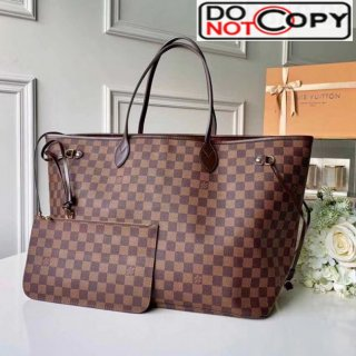Louis Vuitton Neverfull GM Damier Ebene Canvas Tote Bag N41357 Red bag