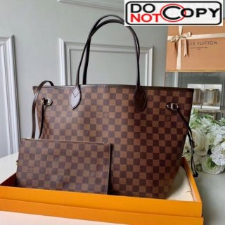 Louis Vuitton Neverfull MM Damier Ebene Canvas Tote Bag N41358 Red bag