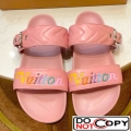 Louis Vuitton New Wave Bom Dia Flat Mule Sandals 1A5BVY Pink