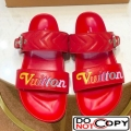 Louis Vuitton New Wave Bom Dia Flat Mule Sandals 1A5BVY Red