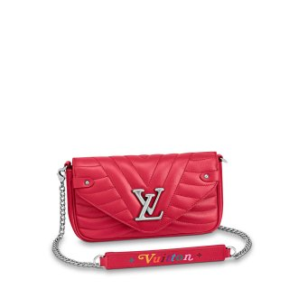 Louis Vuitton New Wave Chain Pochette Shoulder Bag M63956 Red bag