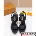 Louis Vuitton New Wave Heel Sandals Black