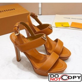 Louis Vuitton New Wave Heel Sandals Clay Brown