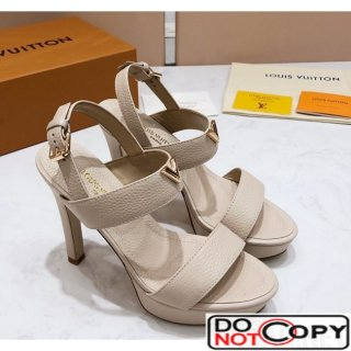 Louis Vuitton New Wave Heel Sandals White