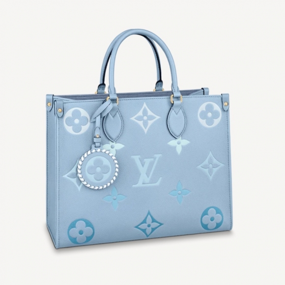Louis Vuitton ONTHEGO MM in Monogram Empreinte Leather M45718 Summer Blue BAG