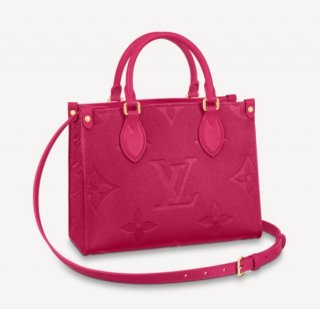 Louis Vuitton OnTheGo PM Tote Bag in Giant Monogram Leather M45661 Pink bag