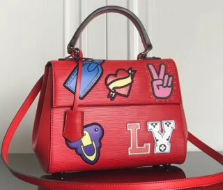Louis Vuitton Patches Stickers Epi Cluny BB Bag M52484 Red bag