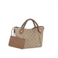 Louis Vuitton Perforated Monogram Calfskin Hina PM Braided Top Handle Bag M53914 Galet Gray bag