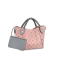 Louis Vuitton Perforated Monogram Calfskin Hina PM Braided Top Handle Bag M53938 Pink bag
