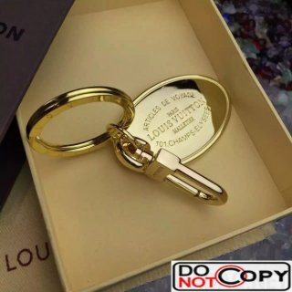 Louis Vuitton Plate Key Ring Gold