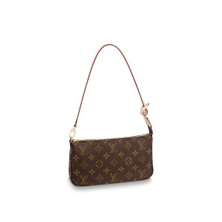Louis Vuitton Pochette Accessoires Clutch Shoulder Bag N40712 Damier Ebene Canvas bag