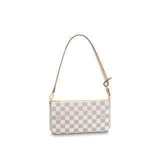Louis Vuitton Pochette Accessoires Clutch Shoulder Bag N41207 Damier Azur Canvas bag