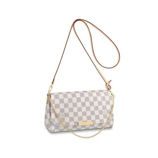 Louis Vuitton Pochette Favorite MM Chain Clutch Damier Azur Canvas N41275 bag