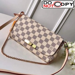 Louis Vuitton Pochette Favorite PM Chain Clutch Damier Azur Canvas N41277 bag