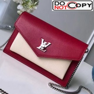 Louis Vuitton Pochette Mylockme Envelope Chain Shoulder Bag M63470 Red bag