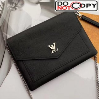 Louis Vuitton Pochette Mylockme Envelope Clutch Chain Bag M63926 Black bag
