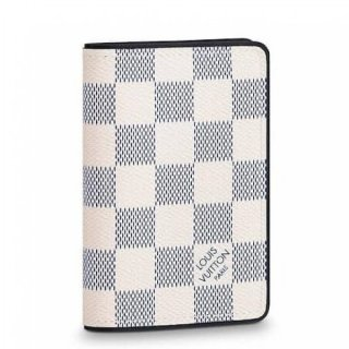 Louis Vuitton Pocket Organizer Damier Coastline N63505