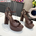 Louis Vuitton Podium Platform Sandal Dark Brown