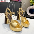 Louis Vuitton Podium Platform Sandal Gold