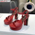 Louis Vuitton Podium Platform Sandal Red