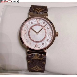 Louis Vuitton Quartz Watch Pink Gold