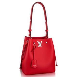 Louis Vuitton Red Lockme Bucket Bag M54679 bag