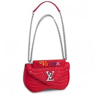 Louis Vuitton Red New Wave Chain Bag MM M51943 bag