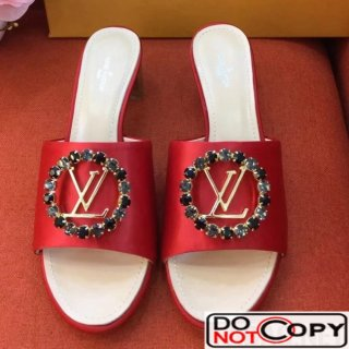 Louis Vuitton Satin Madeleine Mule Red