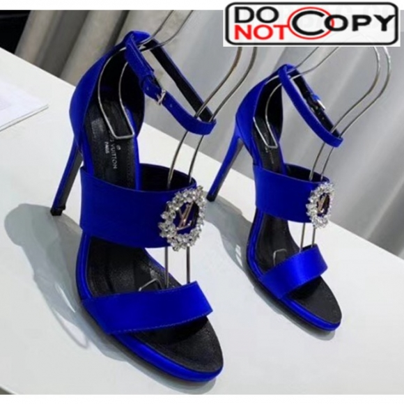 Louis Vuitton Satin Madeleine Platform Sandal Blue