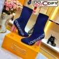 Louis Vuitton Silhouette Oversized Signature Stretch High Heel Ankle Short Boot Blue