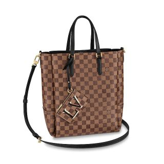Louis Vuitton Skyline Damier Ebene Canvas Bucket Tote Bag N60294 Black bag