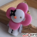 Louis Vuitton Snow Vivienne Bag Charm and Key Holder M67359 Pink