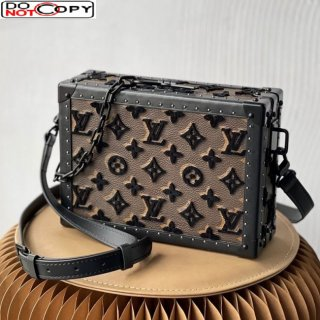 Louis Vuitton Soft Trunk Bag in Embroidered Tuffetage Monogram Canvas M44157 bag