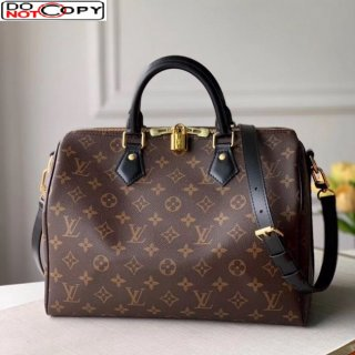 Louis Vuitton Speedy 30 Monogram Canvas Top Handle Bag M48284 Black bag