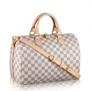 Louis Vuitton Speedy Bandouliere 30 Bag Damier Azur N41373 bag