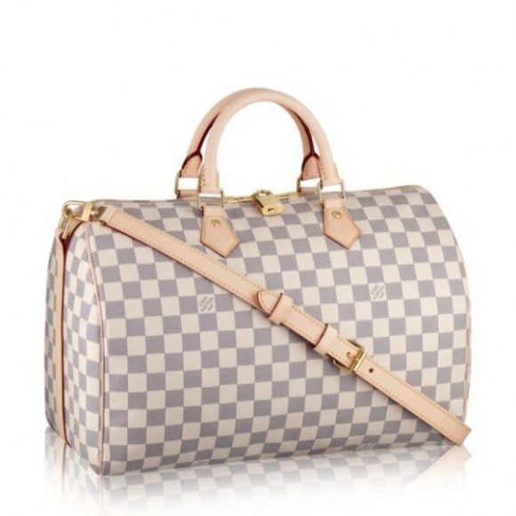 Louis Vuitton Speedy Bandouliere 35 Bag Damier Azur N41372 bag