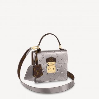 Louis Vuitton Spring Street in Silver Monogram Leather M90567 Bag